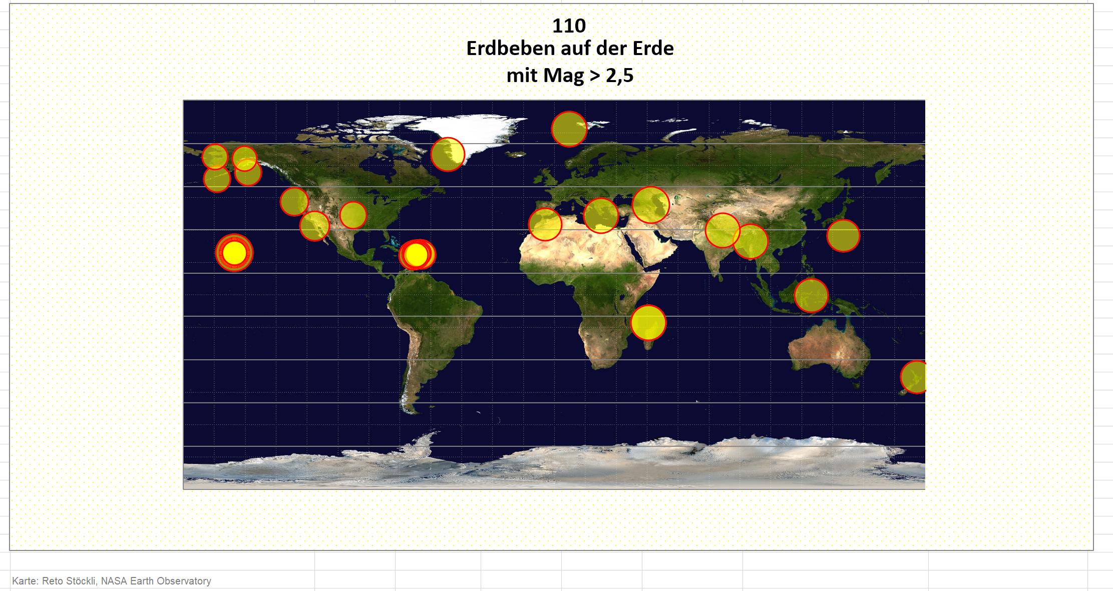 Excel: Daten importieren und aktuell halten (Beispiel Erdbebenkarte)