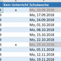Stoffverteilungsplan mit Excel