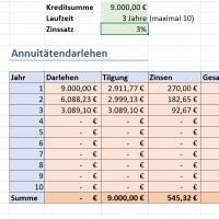 Darlehensarten: Tilgungspläne mit Excel